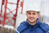 Construction building site foreman — Stock Photo