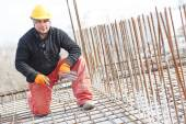Construction worker at reinforcement — Stock Photo