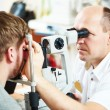 Ophthalmologist or optometrist optician at work — Stock Photo #71023517