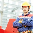 Builder worker at construction site — Stock Photo #71217925