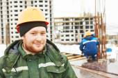Construction building site workers — Stock Photo