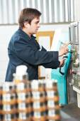 Industrial worker machine operator — Foto de Stock