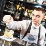 Bartender work at bar — Stock Photo #75472811