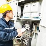 Electrician engineer worker — Stock Photo #75473079