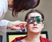 Göz muayeneleri göz hastalıkları Kliniği — Stok fotoğraf
