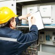 Electrician engineer worker — Stock Photo #75720865