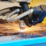Plasma or laser cutting metalwork — Stock Photo #75721119