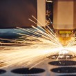 Laser cutting metalwork — Stock Photo #75721121