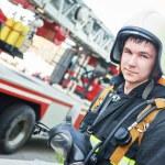 Firefighter fireman — Stock Photo #75721337