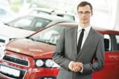 Automobile car dealer salespersom manager — Stock Photo