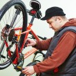 Bike repair or adjustment — Stock Photo #76296261