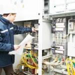 Electrician engineer worker — Stock Photo #76296909