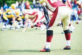 Giocatore di football americano — Foto Stock