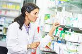 Pharmacutical chemist worker — Stock Photo