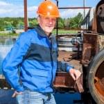 Senior man mechanist — Stock Photo #59537155
