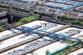 Complex of sewage treatment basins — Stock Photo
