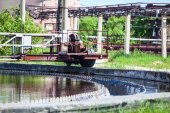 Sewage water filtering — Stock Photo