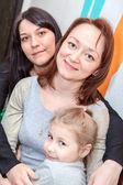 Šťastný sestry různého věku jsou spolu — Stock fotografie