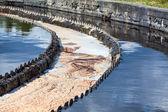 Sewage water overflowing — Stock Photo