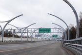 Western High-Speed Diameter tollway. The route to Scandinavia — Stock Photo