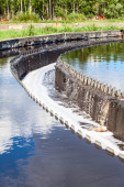 Sewage treatment plant — Stock Photo