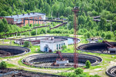 Sewage treatment plant with settlers — Stock Photo