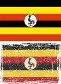 Uganda grunge flag. Vector illustration — Stock Vector