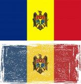 Moldovan grunge flag. Vector illustration — Stock Vector