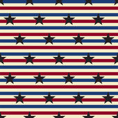 American stars and stripes seamless pattern Vector — Stock Vector