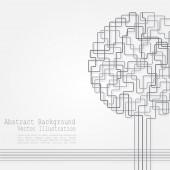 Concept of tree background for different design — Cтоковый вектор