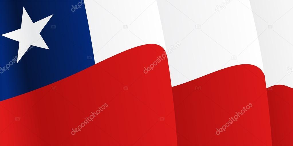 背景与挥舞着智利国旗.矢量图– 图库插图