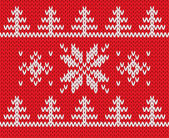 Knitted holiday pattern. Vector illustration. — Stock Vector