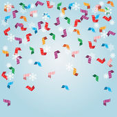 Shiny streamers or party serpentine. Vector — Stock Vector