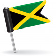 Jamaica pin icon flag. Vector illustration — Stock Vector #61850245