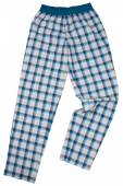 Checkered pijama sweatpants isolated on white — Stock Photo