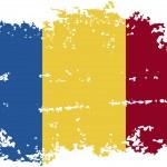 Romanian grunge flag. Vector illustration. — Stock Vector #62876075