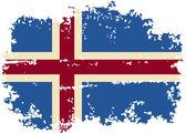 Isländska grunge flagga. vektor illustration — Stockvektor