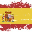Spanish grunge flag. Vector illustration. — Stock Vector #62937447
