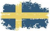 Swedish grunge flag. Vector illustration. — Stock Vector
