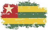 Togo grunge flag. Vector illustration. — Stock Vector