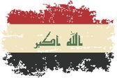 Iraqi grunge flag. Vector illustration. — 图库矢量图片