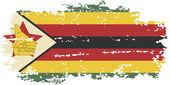Zimbabwean grunge flag. Vector illustration. — Stock Vector