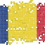 Romanian grunge tile flag. Vector illustration — Stock Vector #64429395