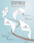 Tidslinjen infographics. Vektor illustration — Stockvektor