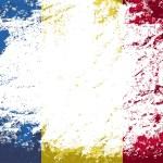 Romanian flag. Grunge background. Vector illustration — Stock Vector #64897089