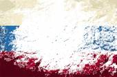 Russian flag. Grunge background. Vector illustration — Stock Vector