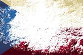 Чешский флаг. гранжевый фон. векторная иллюстрация — Cтоковый вектор