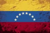 Venezuelan flag. Grunge background. Vector illustration — Stock Vector