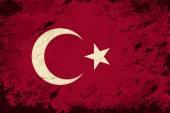 Turkish flag. Grunge background. Vector illustration — Cтоковый вектор