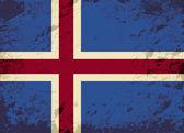 Isländsk flagga. Grunge bakgrund. Vektor illustration — Stockvektor